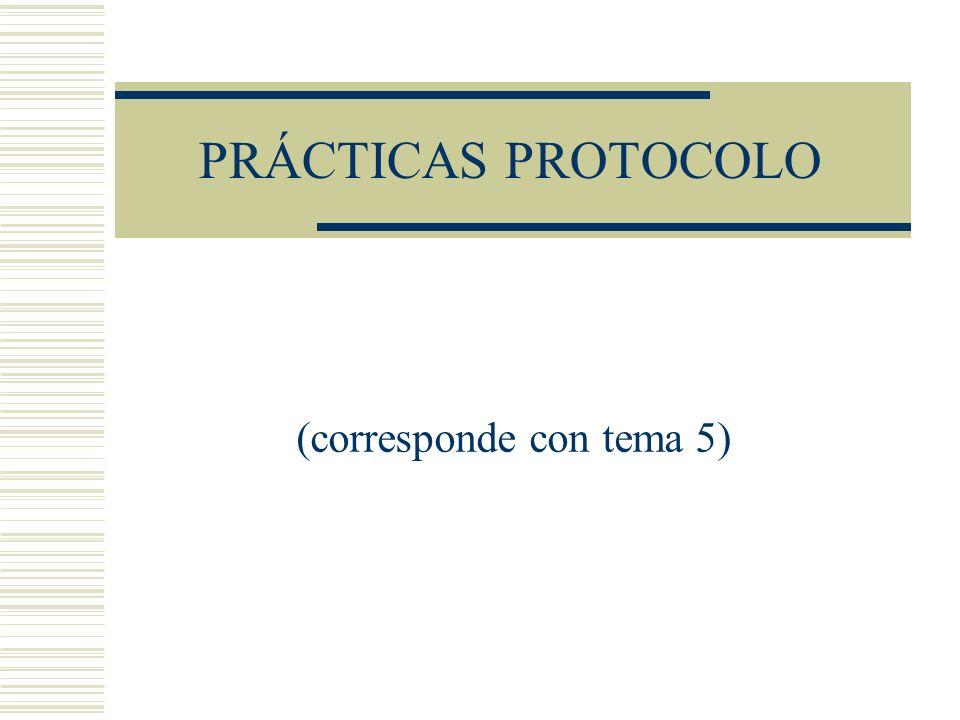 PRÁCTICAS PROTOCOLO (corresponde con tema 5)
