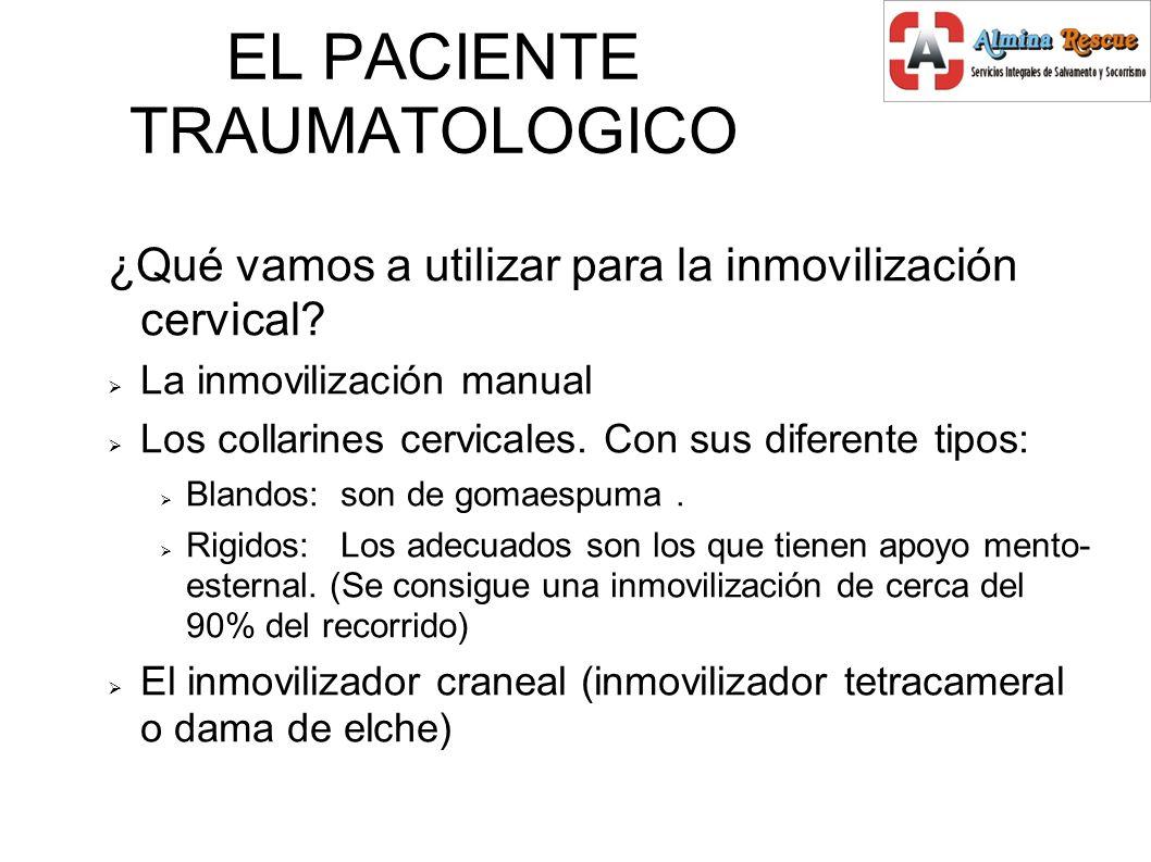 ¿Qué vamos a utilizar para la inmovilización cervical.