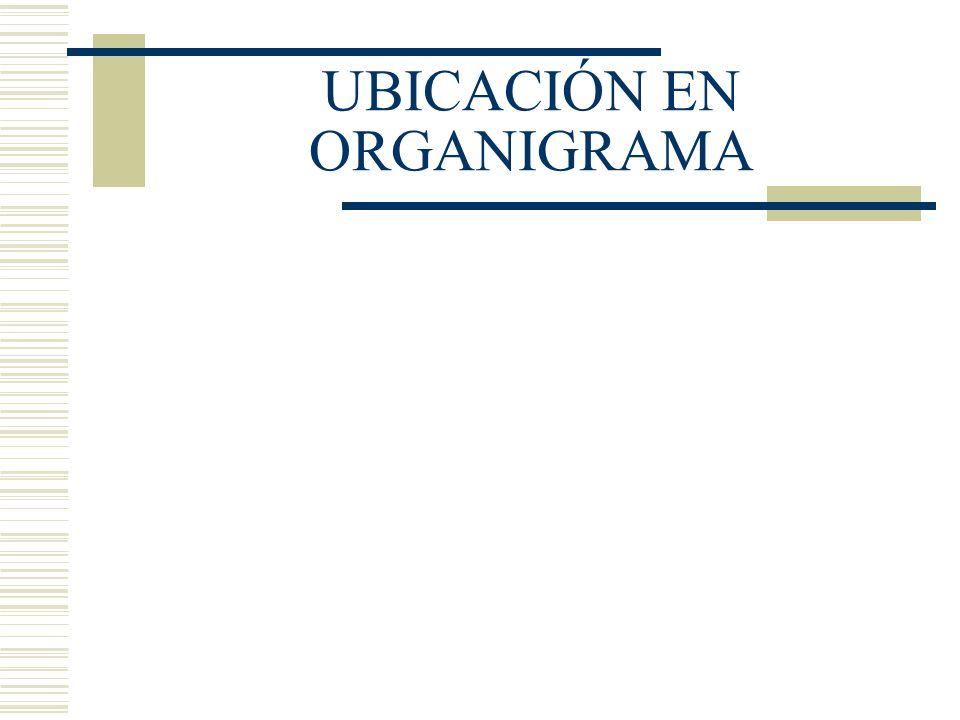 UBICACIÓN EN ORGANIGRAMA