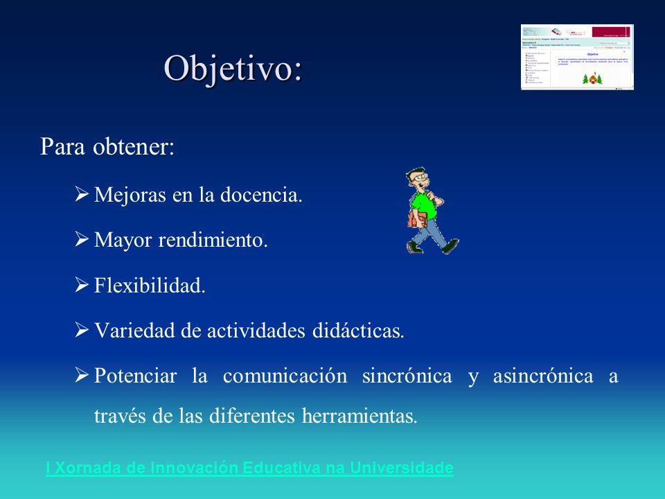 I Xornada de Innovación Educativa na UniversidadeIntroducción +