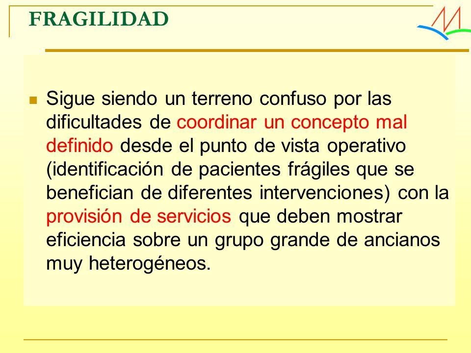 Sigue siendo un terreno confuso por las dificultades de coordinar un concepto mal definido desde el punto de vista operativo (identificación de pacien