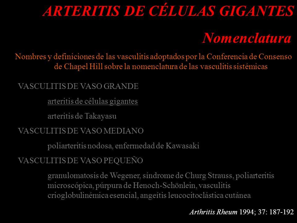 d ARTERITIS DE CÉLULAS GIGANTES.- ANATOMÍA PATOLÓGICA d MICROSCÓPICA