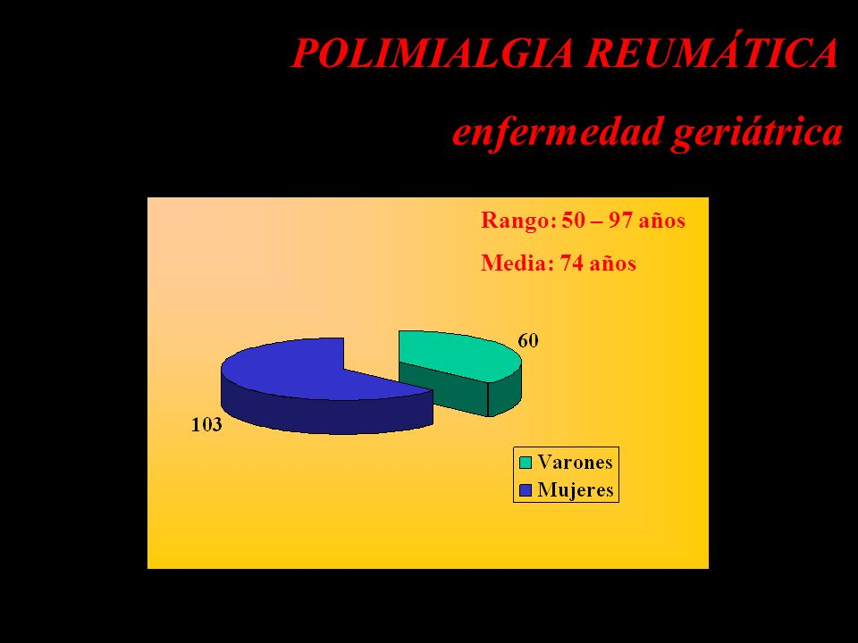 POLIMIALGIA REUMÁTICA Diagnóstico diferencial Artritis reumatoide RS3PE LES del anciano Polimiositis Espondiloartritis Fibromialgia Endocarditis bacteriana Tumores de órganos sólidos o hematológicos