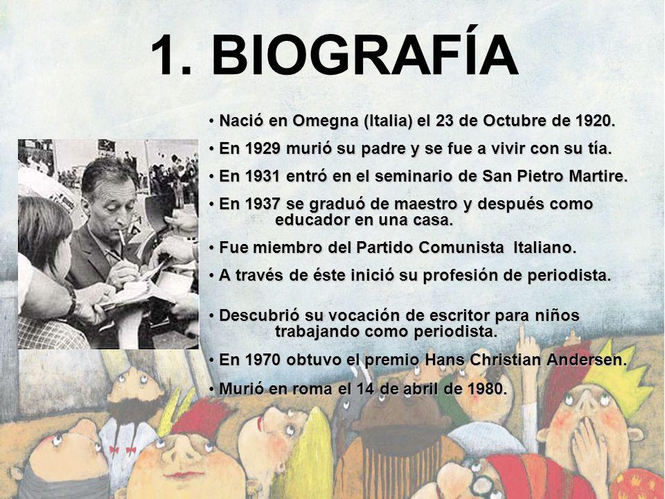 1. BIOGRAFÍA Nació en Omegna (Italia) el 23 de Octubre de 1920. En 1929 murió su padre y se fue a vivir con su tía. En 1929 murió su padre y se fue a