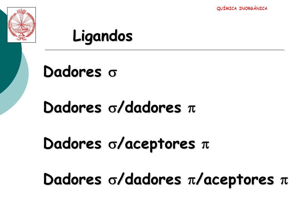 Dadores Dadores M QUÍMICA INORGÁNICA
