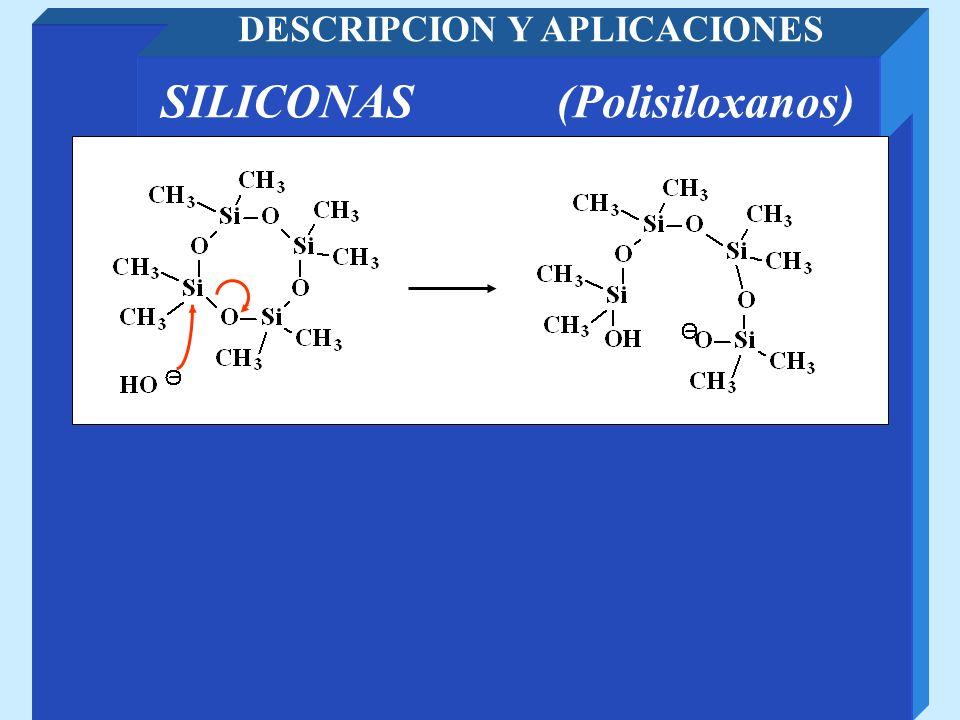 SILICONAS (Polisiloxanos) DESCRIPCION Y APLICACIONES