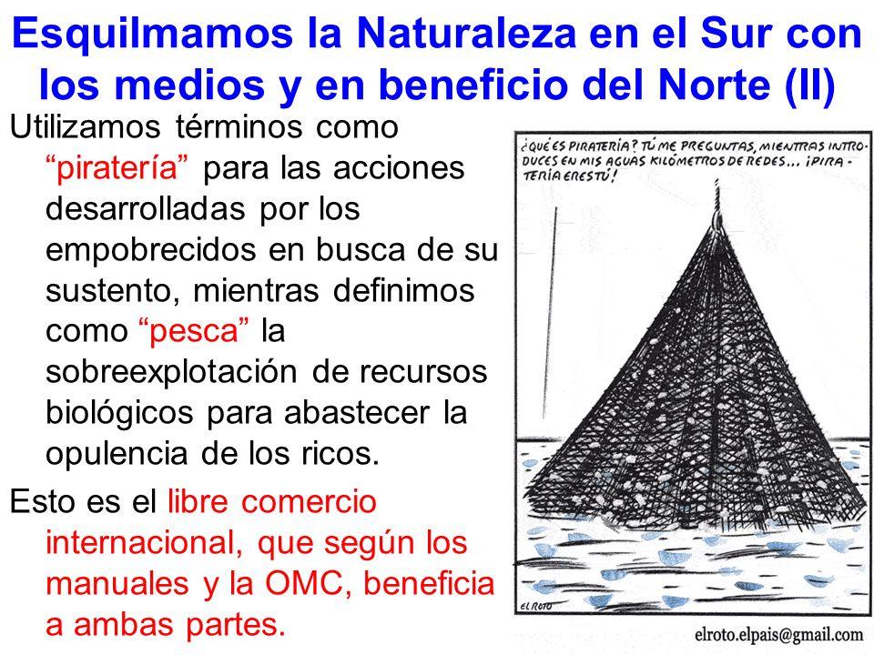 Esquilmamos la Naturaleza en el Sur con los medios y en beneficio del Norte (II) Utilizamos términos como piratería para las acciones desarrolladas po