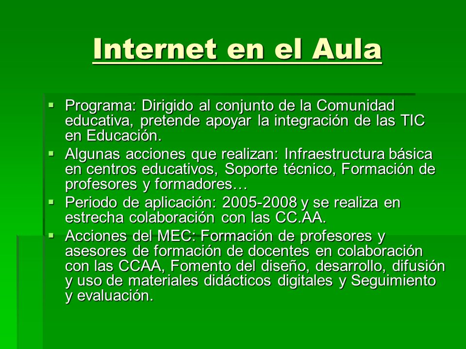 Aula Mentor Formación abierta, libre a través de Internet para personas adultas. Con 12 CCAA, 50 Ayuntamientos, 2 ONG y 5 Ministerios de Educación Ibe