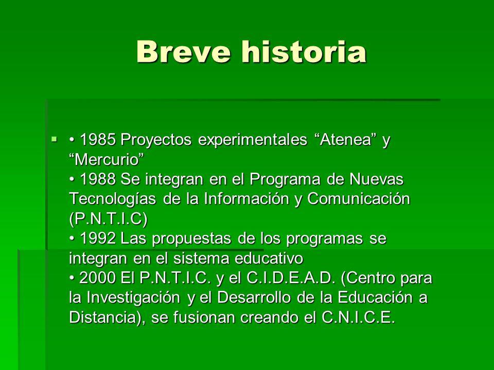 cnice CENTRO NACIONAL DE INFORMACIÓN Y COMUNICACIÓN EDUCATIVA
