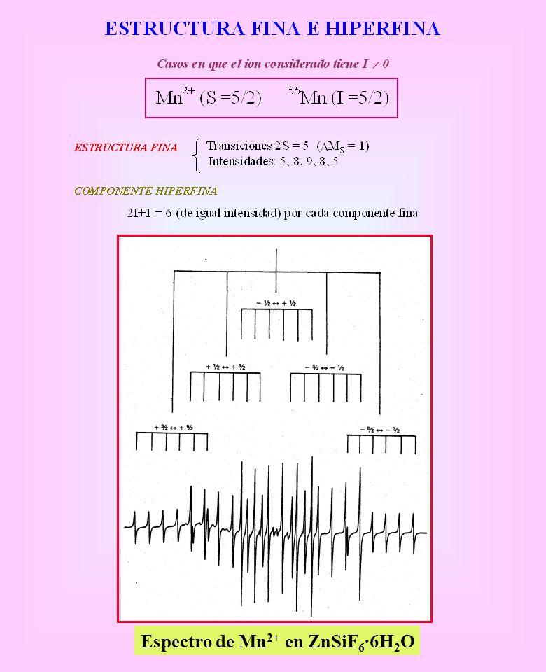Espectro de Mn 2+ en ZnSiF 6 ·6H 2 O