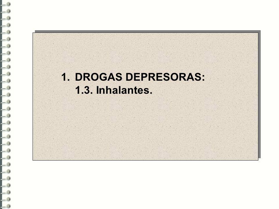 1.DROGAS DEPRESORAS: 1.3. Inhalantes.
