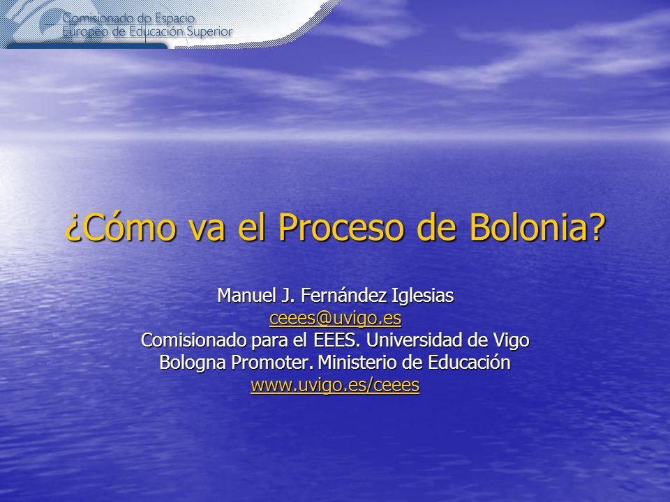 ¿Cómo va el Proceso de Bolonia.Manuel J.