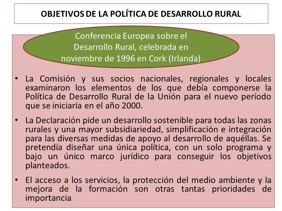 OBJETIVOS DE LA POLÍTICA DE DESARROLLO RURAL La Comisión y sus socios nacionales, regionales y locales examinaron los elementos de los que debía compo