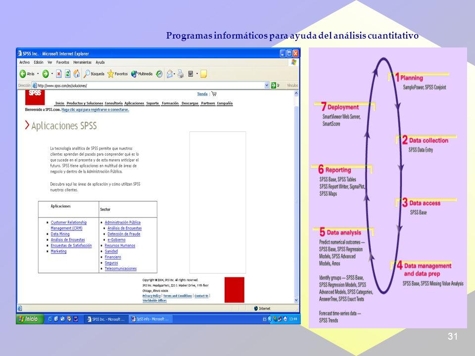 31 Programas informáticos para ayuda del análisis cuantitativo