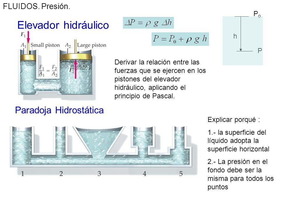 FLUIDOS. Ejercicio: En la figura se muestra la presión medida en las arterias en diferentes partes del cuerpo. Calcular la diferencia de presión debid