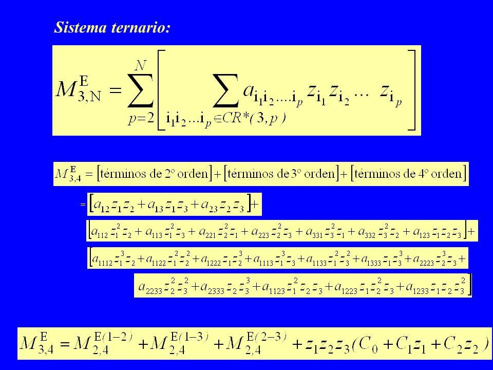 Sistema ternario: =