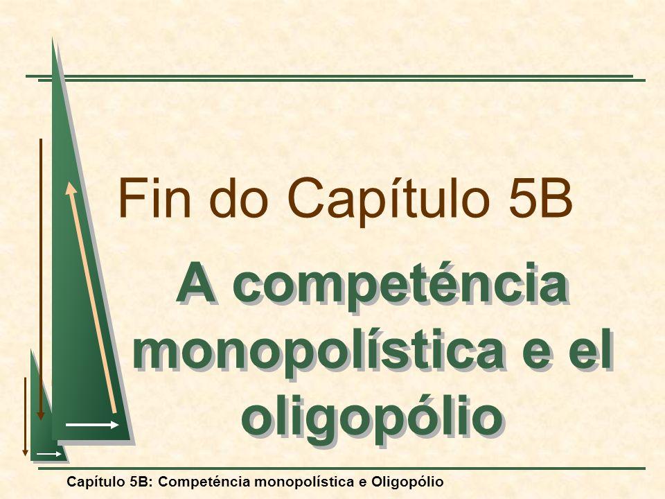 Capítulo 5B: Competéncia monopolística e Oligopólio Fin do Capítulo 5B A competéncia monopolística e el oligopólio