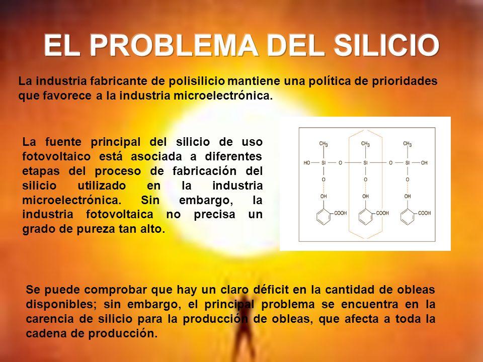 La fuente principal del silicio de uso fotovoltaico está asociada a diferentes etapas del proceso de fabricación del silicio utilizado en la industria