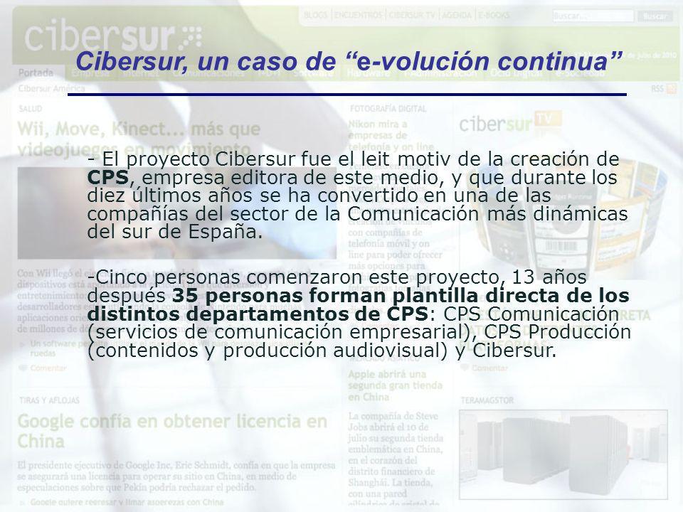 Cibersur, un caso de e-volución continua - El proyecto Cibersur fue el leit motiv de la creación de CPS, empresa editora de este medio, y que durante