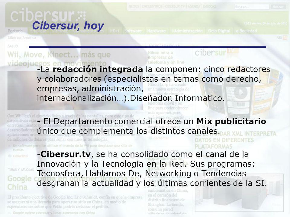 -* Cibersur.com cuenta con un moderno gestor de contenidos, basado en GeNews, la herramienta que actualmente también tienen medios como el diario Público, Canalsur, ElCorreoWeb o revistas especializadas en Internet como Burladero.com.