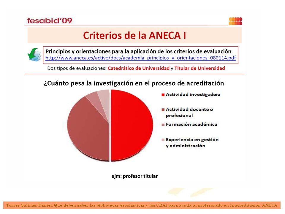 Actividad investigadora Torres Salinas, Daniel.