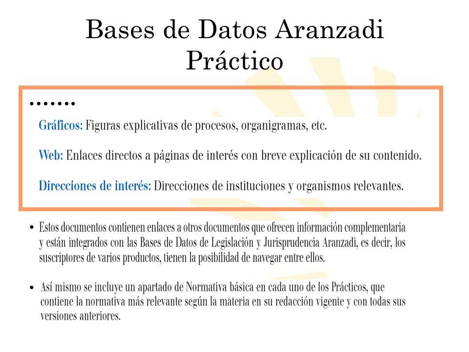 Biblioteca Universitaria de Córdoba Bases de Datos Aranzadi Práctico ……...