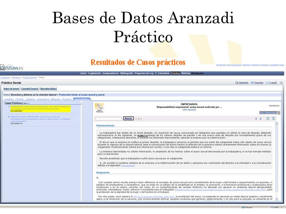 Biblioteca Universitaria de Córdoba Bases de Datos Aranzadi Práctico