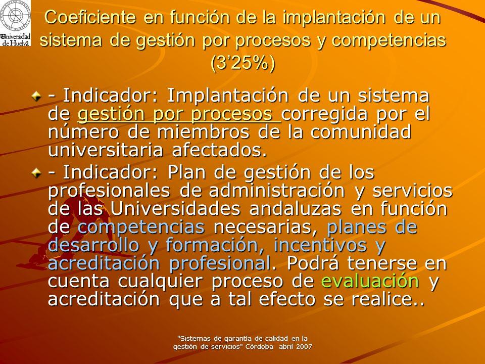 Sistemas de garantía de calidad en la gestión de servicios Córdoba abril 2007 I Plan Nacional de Evaluación de la Calidad de las Universidades.