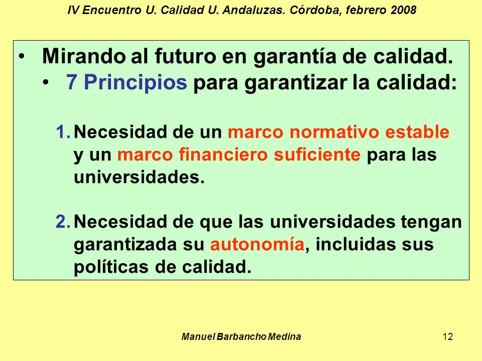 Manuel Barbancho Medina12 IV Encuentro U. Calidad U.