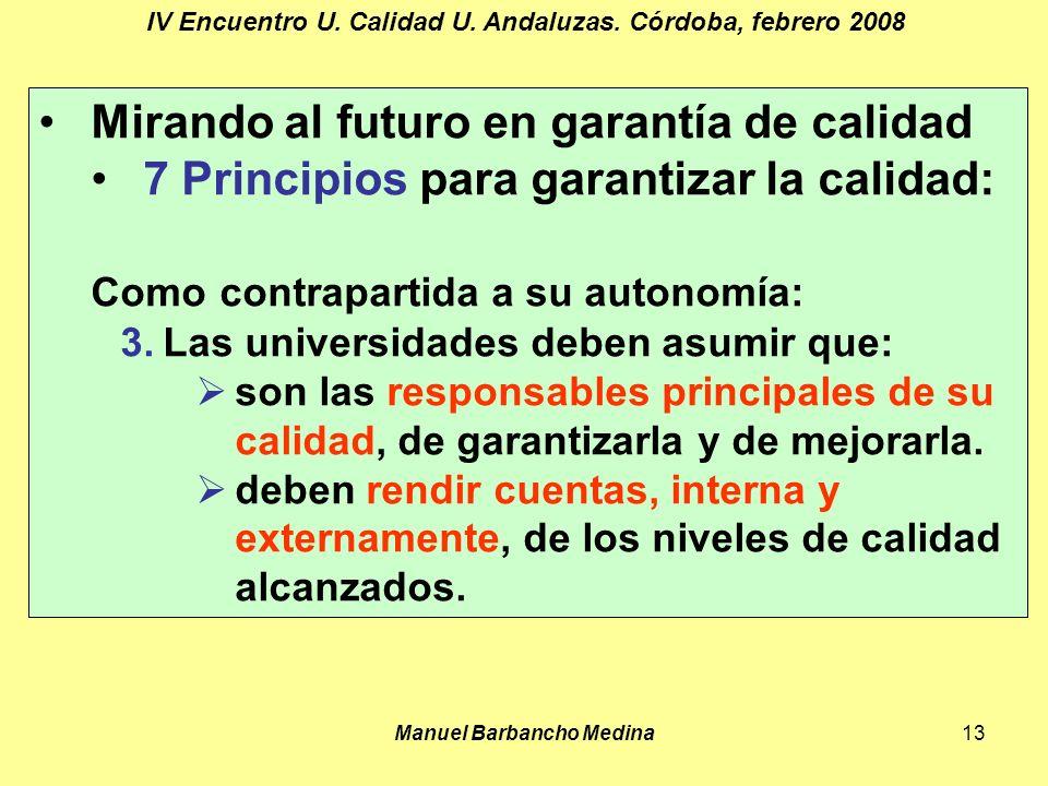 Manuel Barbancho Medina13 IV Encuentro U. Calidad U.