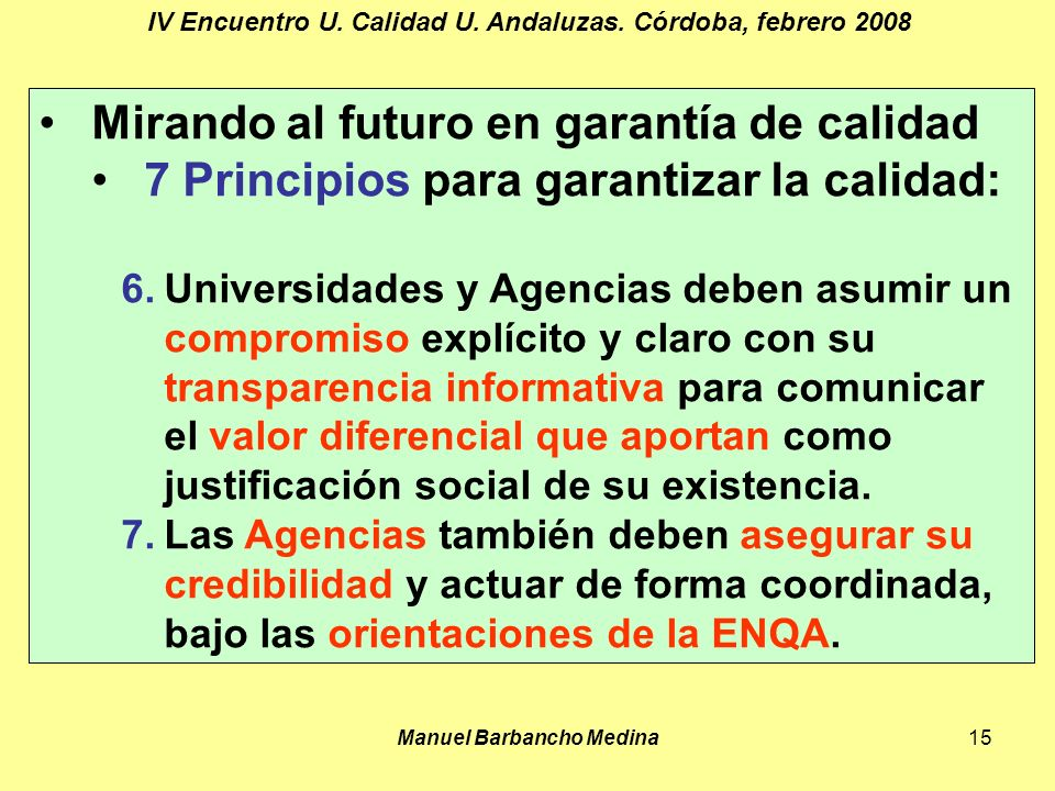 Manuel Barbancho Medina15 IV Encuentro U. Calidad U.