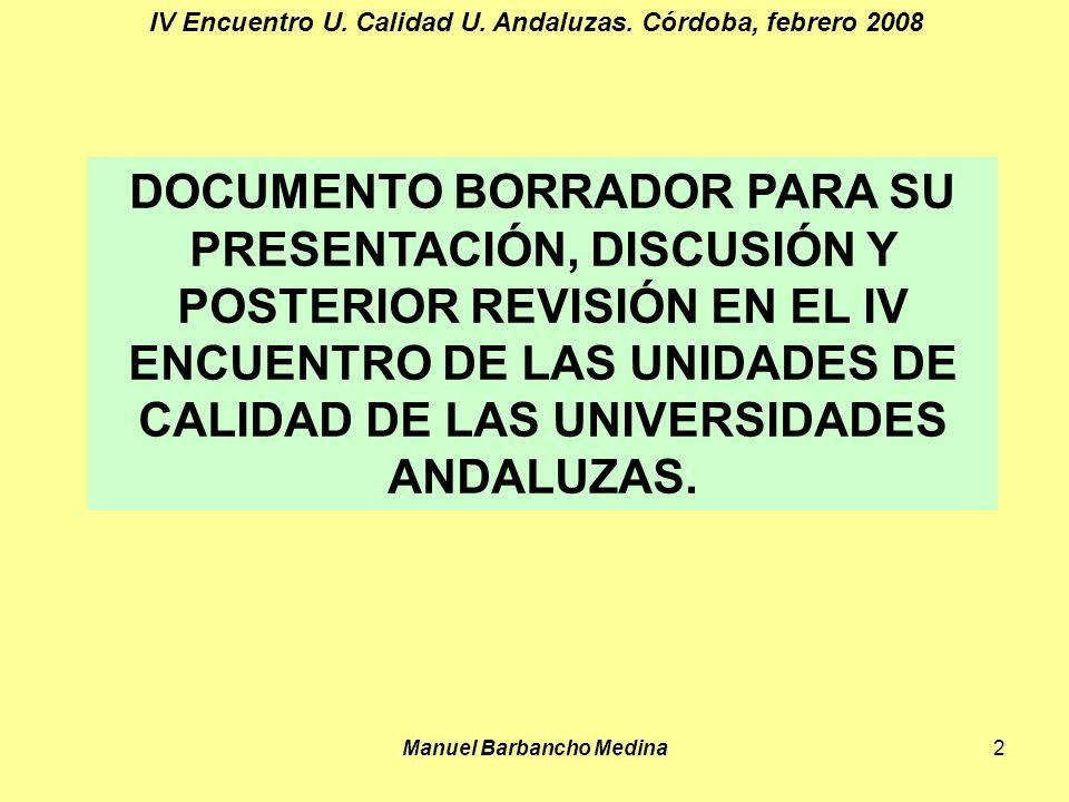 Manuel Barbancho Medina2 IV Encuentro U. Calidad U.