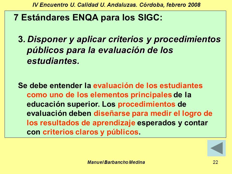 Manuel Barbancho Medina22 IV Encuentro U. Calidad U.