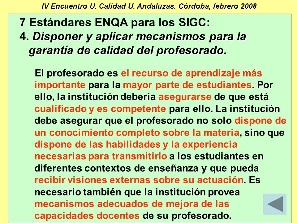 Manuel Barbancho Medina23 IV Encuentro U. Calidad U.