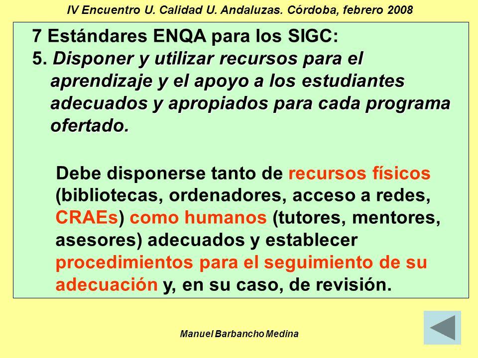 Manuel Barbancho Medina24 IV Encuentro U. Calidad U.