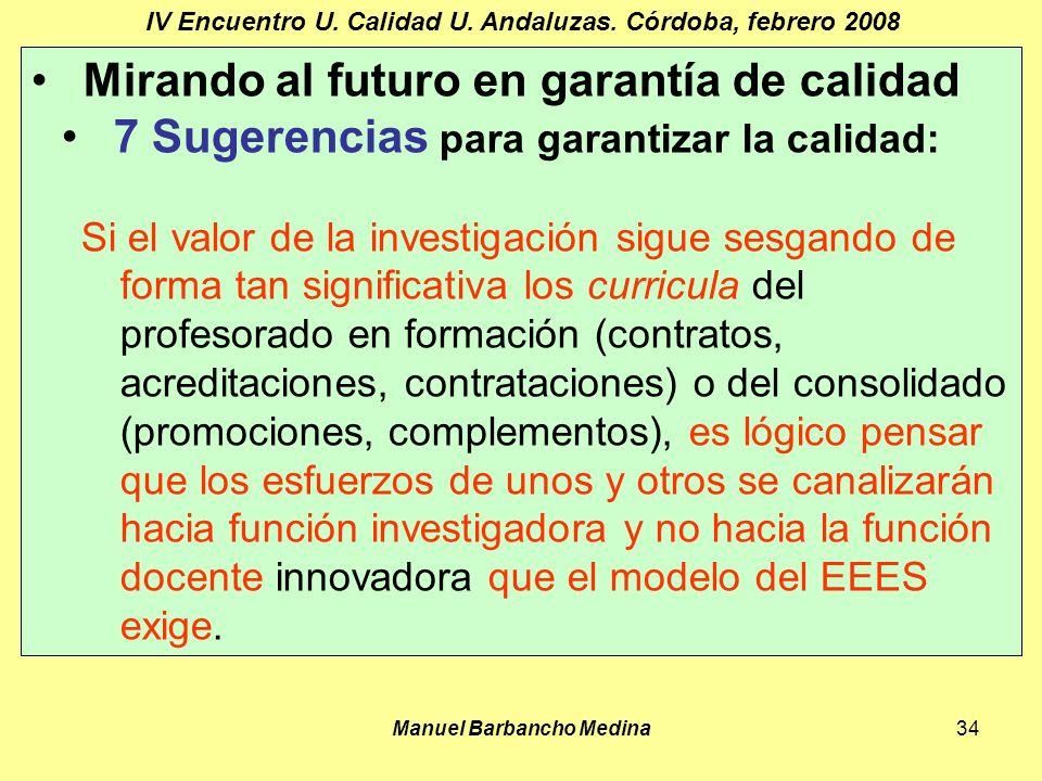 Manuel Barbancho Medina34 IV Encuentro U. Calidad U.