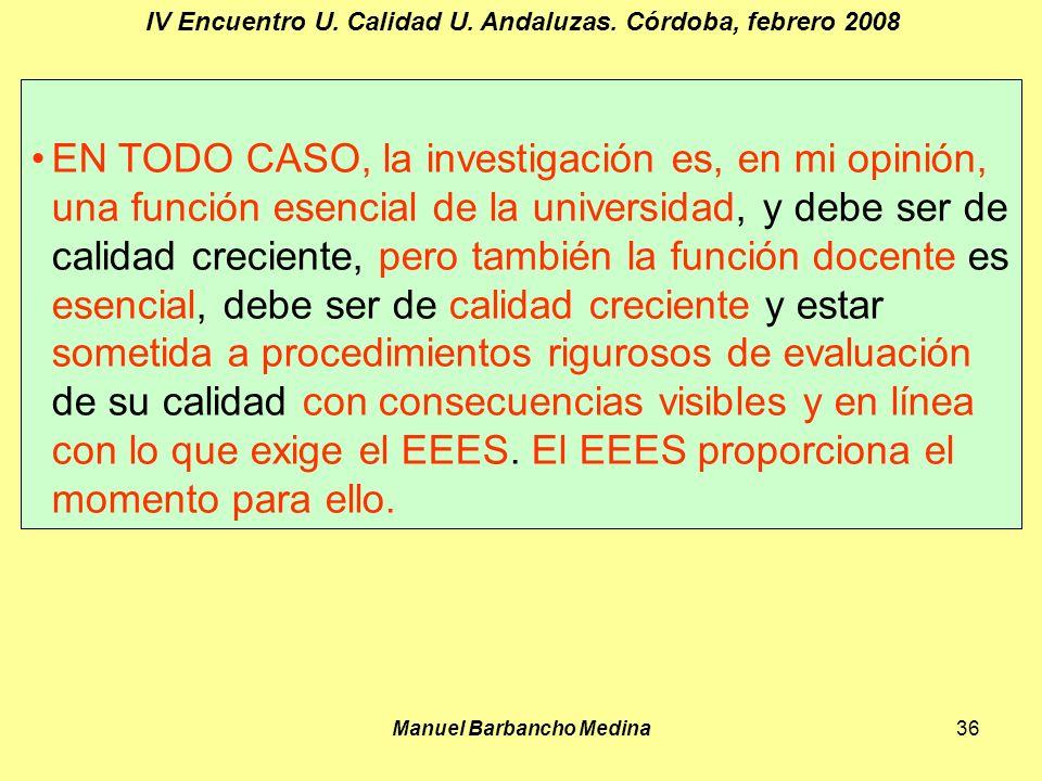 Manuel Barbancho Medina36 IV Encuentro U. Calidad U.
