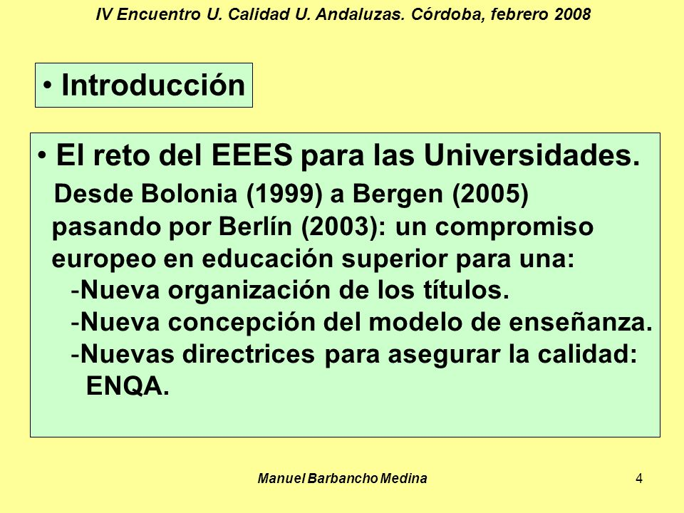 Manuel Barbancho Medina4 IV Encuentro U. Calidad U.