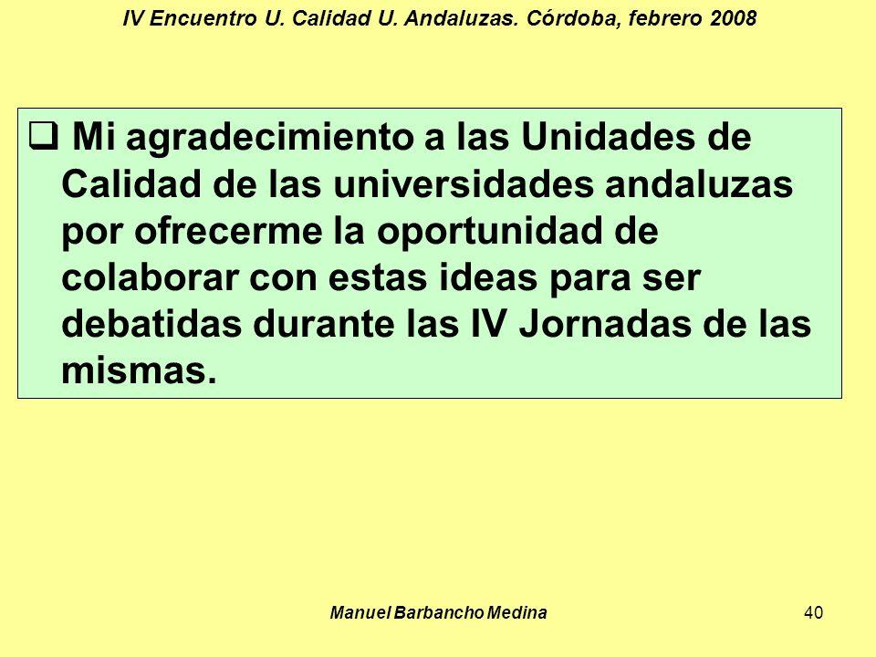 Manuel Barbancho Medina40 IV Encuentro U. Calidad U.