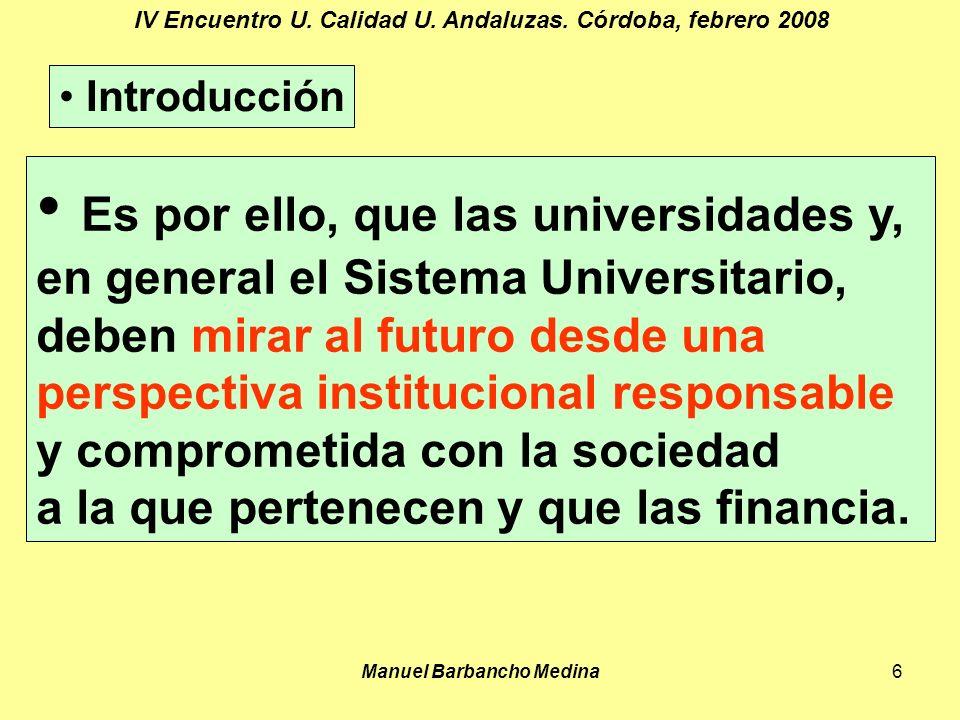 Manuel Barbancho Medina6 IV Encuentro U. Calidad U.