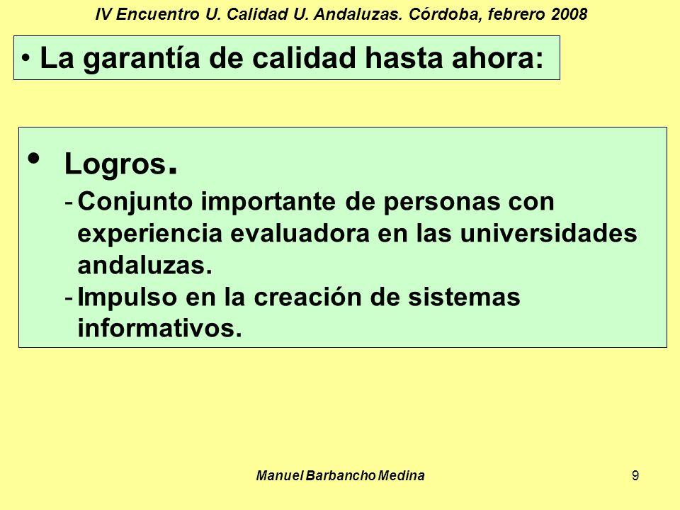 Manuel Barbancho Medina9 IV Encuentro U. Calidad U.