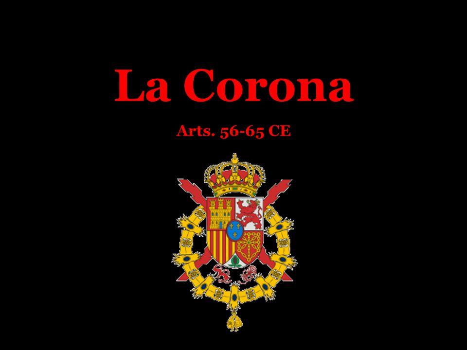 La Posición Constitucional del Rey La Corona: parte del ordenamiento constitucional, no del sistema político.
