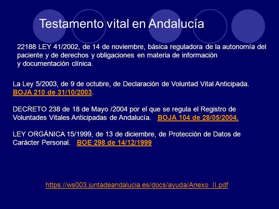 22188 LEY 41/2002, de 14 de noviembre, básica reguladora de la autonomía del paciente y de derechos y obligaciones en materia de información y documen