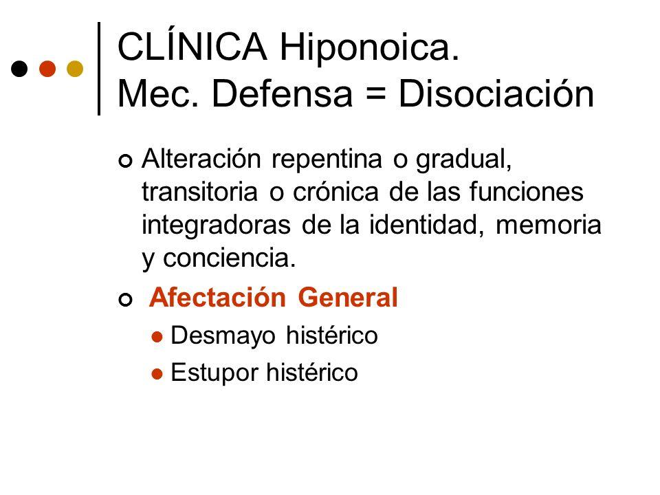 Alteración repentina o gradual, transitoria o crónica de las funciones integradoras de la identidad, memoria y conciencia. Afectación General Desmayo