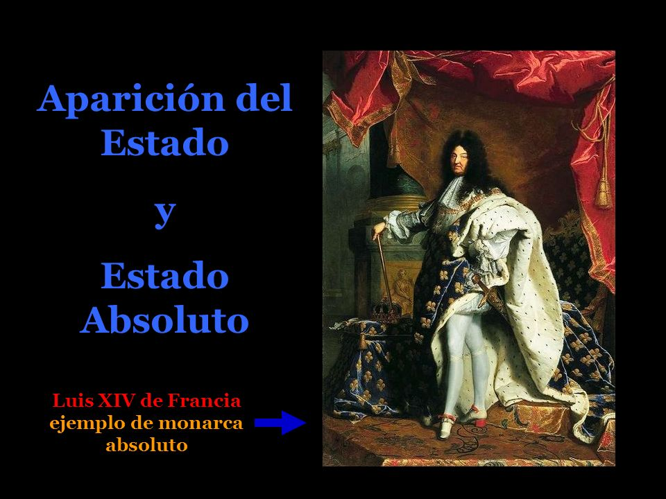 Aparición del Estado y Estado Absoluto Luis XIV de Francia ejemplo de monarca absoluto