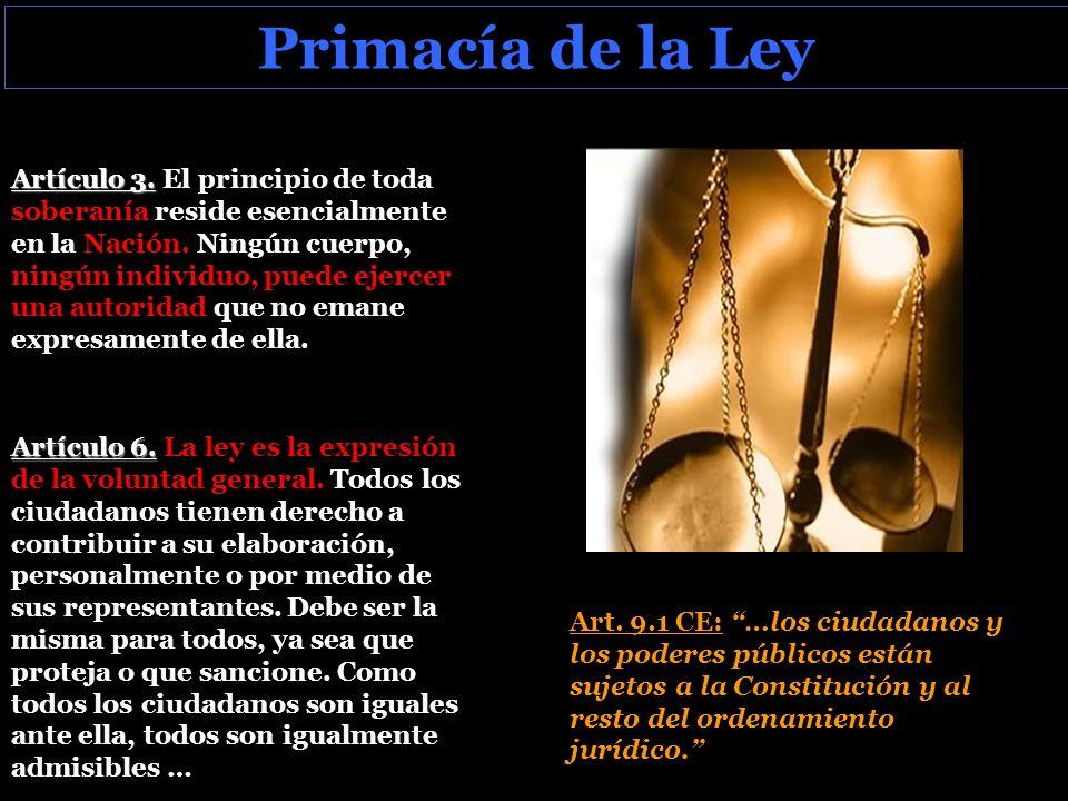 Primacía de la Ley Artículo 3.Artículo 3.