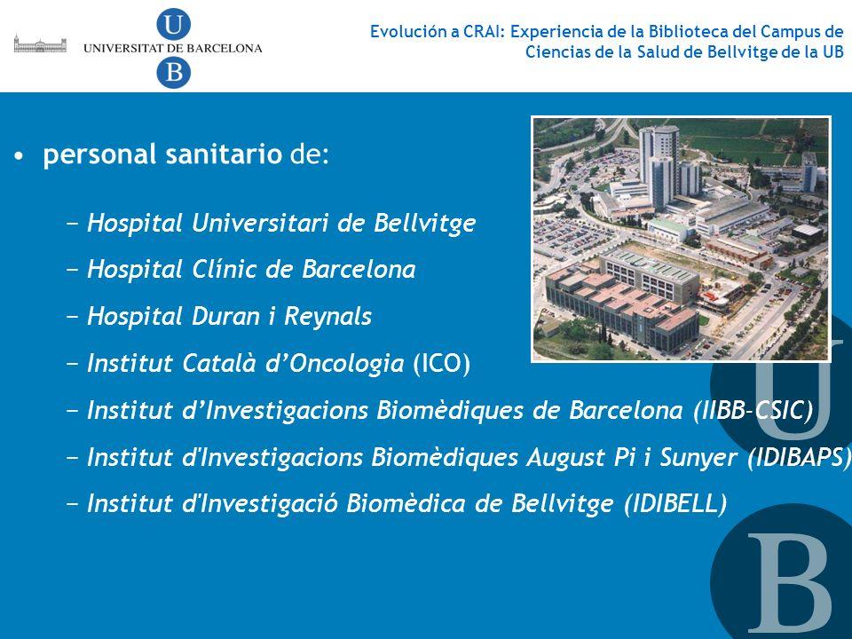 Hospital Universitari de Bellvitge Hospital Clínic de Barcelona Hospital Duran i Reynals Institut Català dOncologia (ICO) Institut dInvestigacions Bio