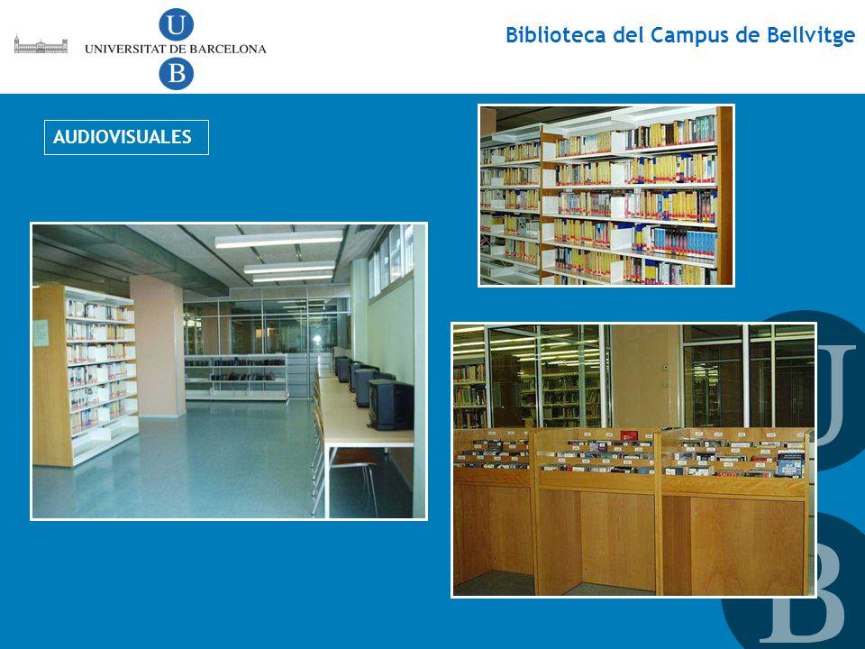 Biblioteca del Campus de Bellvitge AUDIOVISUALES