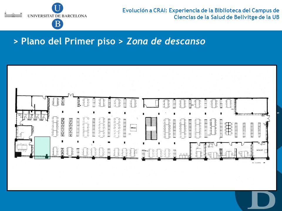 Evolución a CRAI: Experiencia de la Biblioteca del Campus de Ciencias de la Salud de Bellvitge de la UB > Plano del Primer piso > Zona de descanso