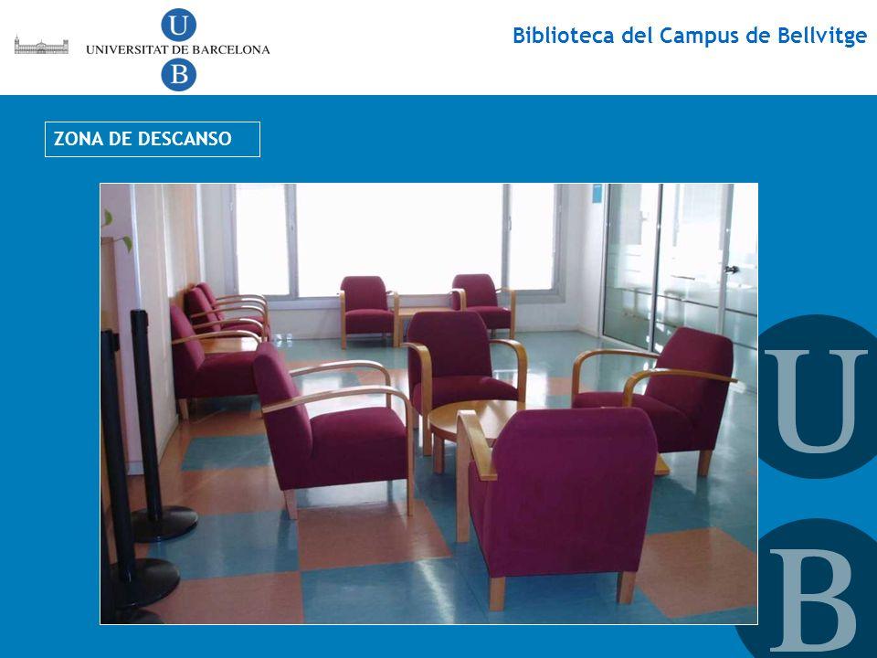 Biblioteca del Campus de Bellvitge ZONA DE DESCANSO
